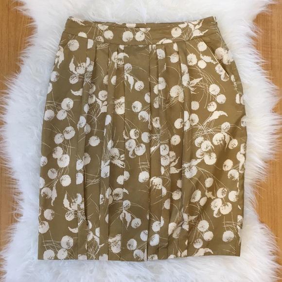 2f793e415d Boden Skirts | Silk Limited Edition Gold Dandelion Skirt | Poshmark